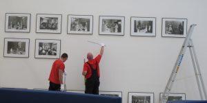 Albertinen Krankenhaus - Montage von historischen Fotodrucken