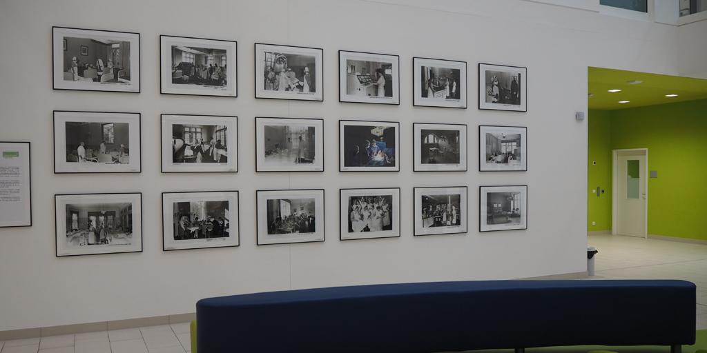 Albertinen Krankenhaus - kundeneigene Fotografien wurden in Gestaltung der Empfangshalle integriert - Querformate