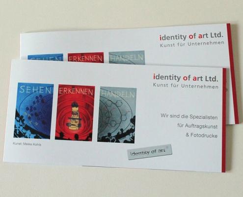 identity of art - Flyer Auftragskunst
