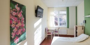 Fotodruck - Asklepios Klinik Altona - Geburtsstation - Patientenzimmer - Blumen