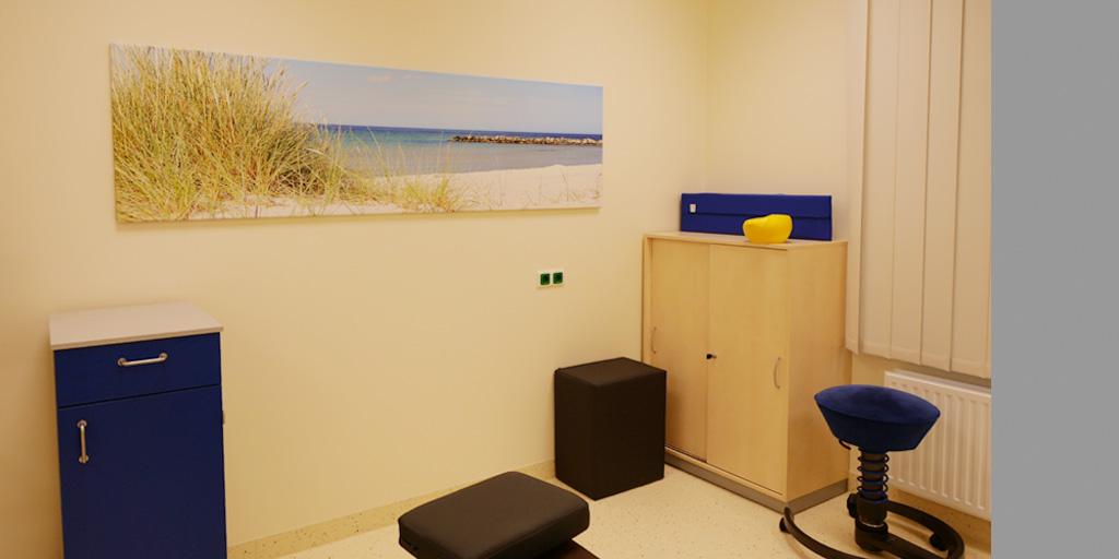 Fotodruck in einem Behandlungszimmer