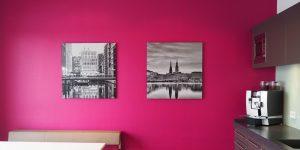 Zwei Fotodrucke schwarz-weiß mit Hamburg Motiven