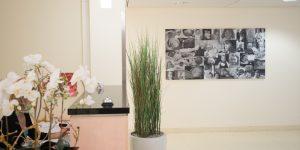 Fotodrucke - Asklepios Klinik Altona - Empfangsbereich mit Babycollage