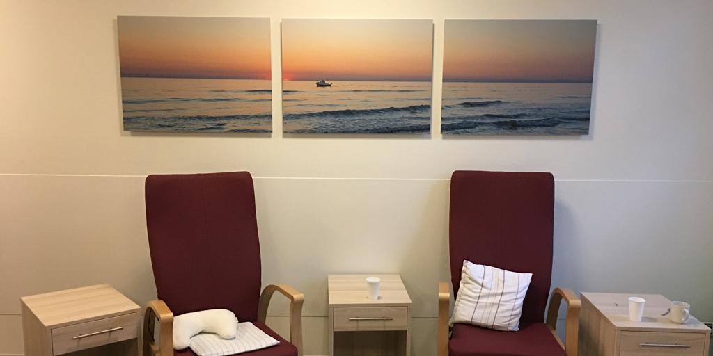 Fotodrucke für einen Therapieraum