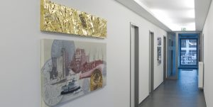Gemälde und Metall Collage - für Metallbranche - Künstlerin Meike Kohls