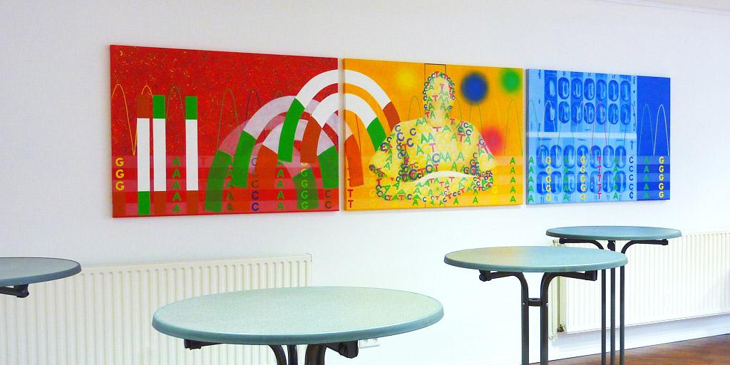 Dreiteiliges Gemälde für IHP von Meike Kohls