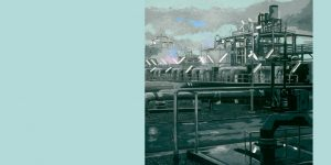 Gemälde einer Raffinerie von Jens Reetz
