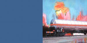 Gemälde mit Tanklastzug von Jens Reetz