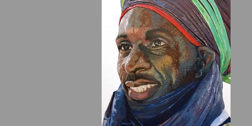 Gemälde Tuareg von Uwe Fehrmann