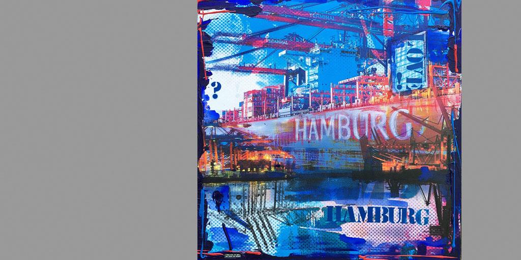 Gemälde HAmburg im Herzen von Ilka Wendland