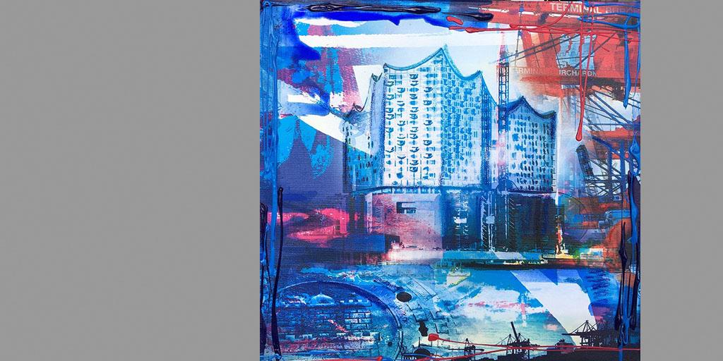 Gemälde Hamburg unsere Elphi von Ilka Wendland