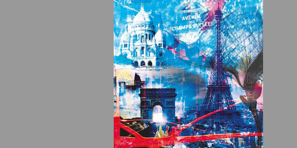 Gemälde Paris mit Sacre Coeur von Ilka Wendland