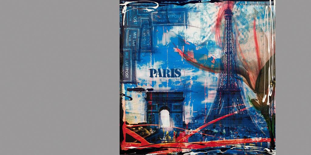 Gemälde Paris von Ilka Wendland