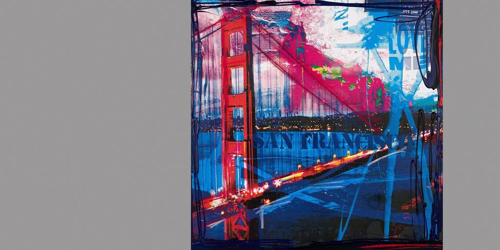 Gemälde San Francisco von Ilka Wendland