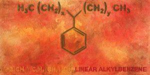 Gemälde der Künstlerin Meike Kohls zum Thema Chemieformeln