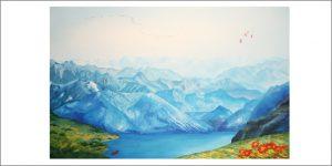 Gemälde von Meike Kohls für Diagnosebereich