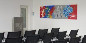 Querformatiges Gemälde der Künstlerin Meike Kohls