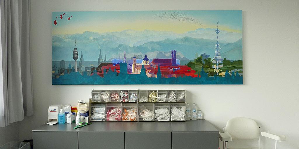 Gemälde von Meike Kohls für Therapiebereich
