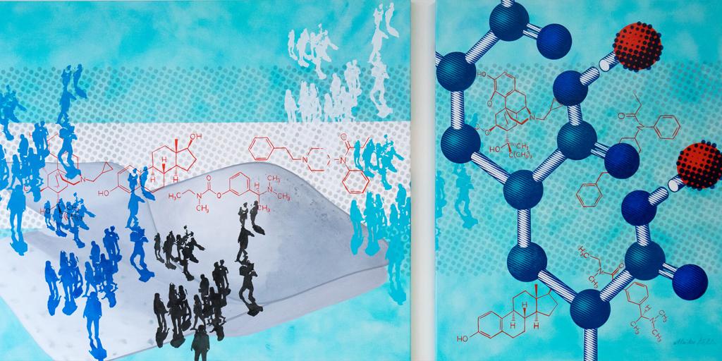 Gemälde Pharma und Pflaster