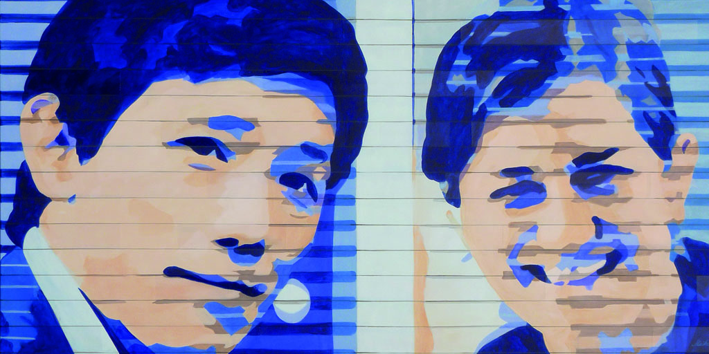 Gemälde der Künstlerin Meike Kohls mit zwei Menschen