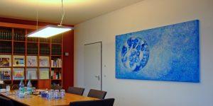 Gemälde - Projekt Institut für Hämatopathologie Hamburg - Künstlerin Meike Kohls - Makrokosmos