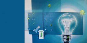 Graffiti mit Glühbirne von Vaine Sascha Siebdrat