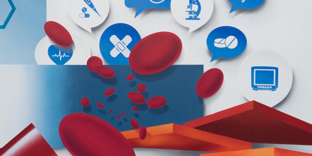 Detailausschnitt Graffiti mit Blutzellen