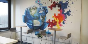 Graffiti - Raum mit Gemälde