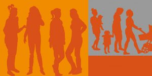 Illustration zum Thema Frauen und Kinder von Meike Kohls