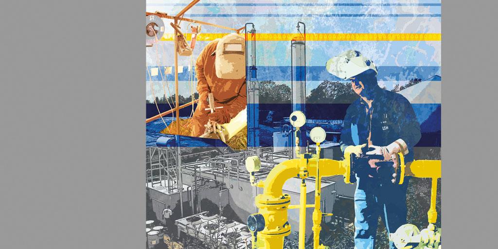 Illustration - LSW - Künstlerin Meike Kohls - Motiv Biogas