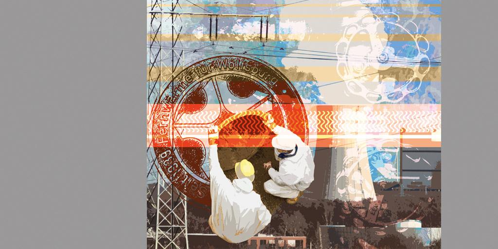 Illustration - LSW - Künstlerin Meike Kohls - Motiv Fernwärme