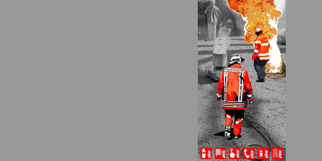 Illustration zum Thema Brandschutz von Meike Kohls