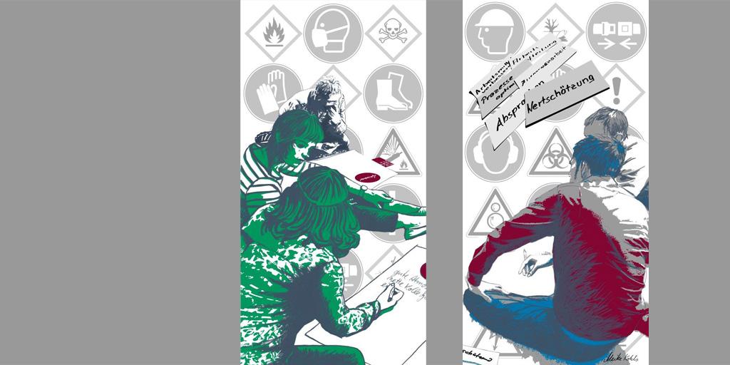 Zwei Bilder aus Triptychon für ZAG von Meike Kohls