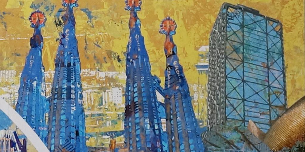 Illustration von Pellegrino Ritter, Ausschnitt Barcelona