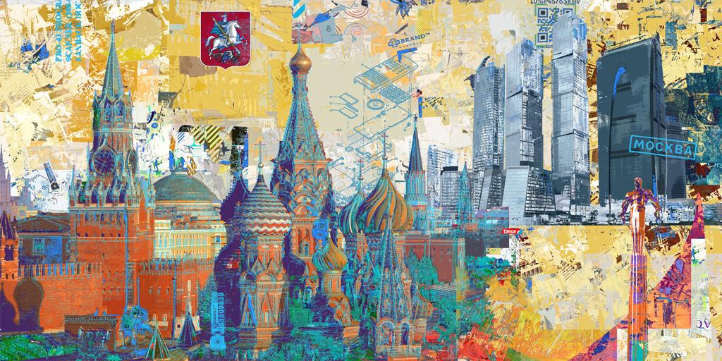 Illustration Moskau von Pellegrino Ritter