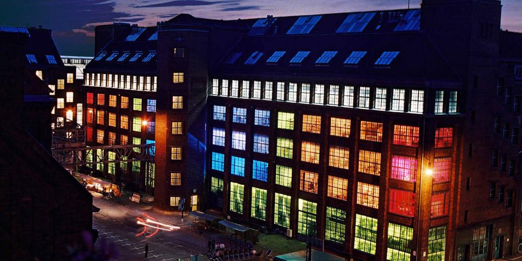 Lichtinstallation - Projekt AEG-Höfe im Auftrag der Deutschen Welle, Berlin von Günter Ries
