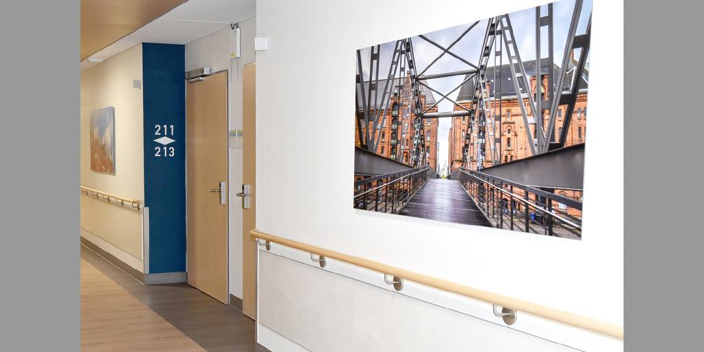 Motiv von Fotolia für Krankenhausflur im Albertinen Krankenhaus