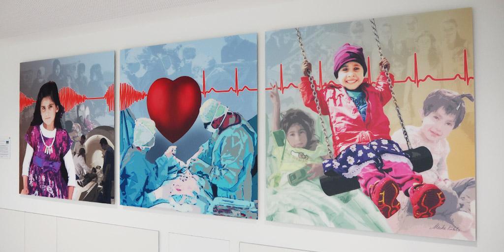 Triptychon von Meike Kohls für die Albertinen Stiftung