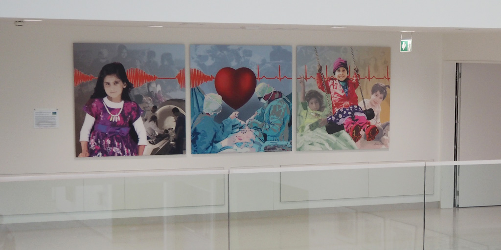Triptychon von Meike Kohls für die Herzbrücke