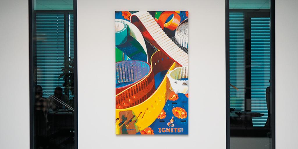 Gemälde von Uwe Fehrmann für Ammeraal Beltech Gmbh, Geesthacht