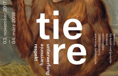 Tiere, Ausstellungsplakat Museum für Kunst und Gewerbe Hamburg