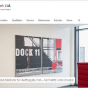 Neue Webseite identity of art Ltd.