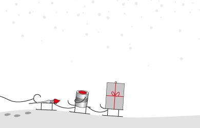 Ausschnitt aus der Weihnachtskarte von identity of art Ltd.