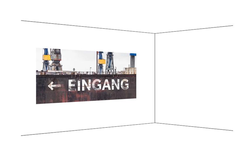 Eingang, Fotodruck bearbeitet