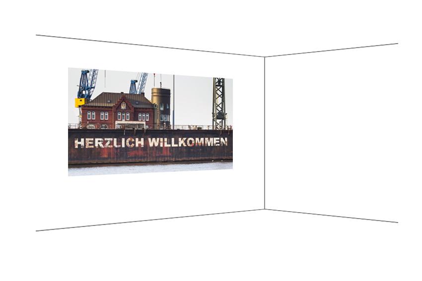 Herzlich Willkommen, Fotodruck bearbeitet