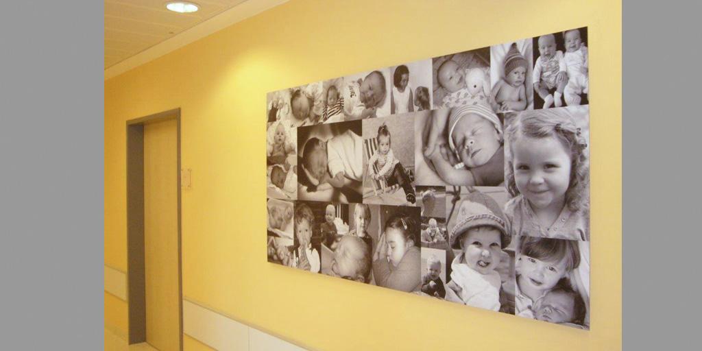 Babycollage aus dem Flyer Fotodrucke für Kliniken