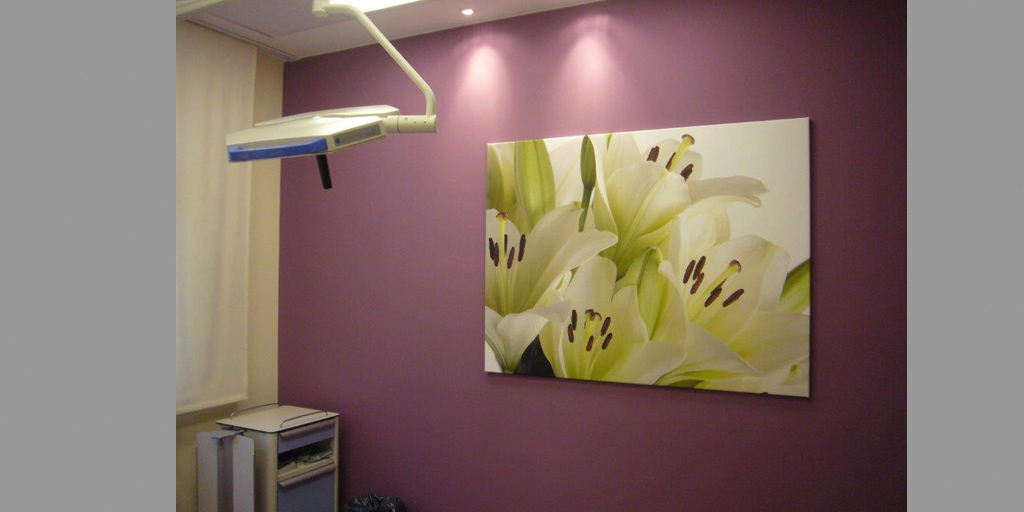Foto Patientenzimmer aus dem Flyer Fotodrucke für Kliniken