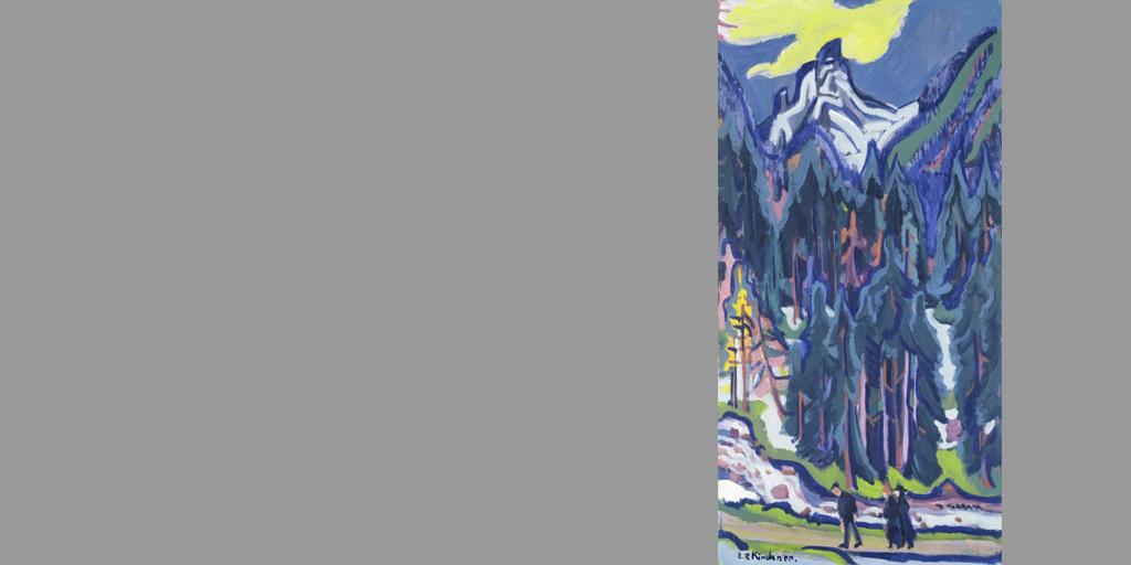 Gemälde - Künstler Ernst Ludwig Kirchner - Sertigtal 1926 - © Bündner Kunstmuseum