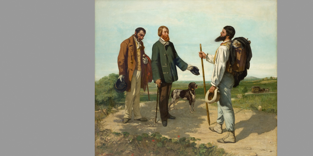 Gemälde - Künstler Gustave Courbet - Die Begegnung 1854 - © Musée Fabre de Montpellier Méditerranée