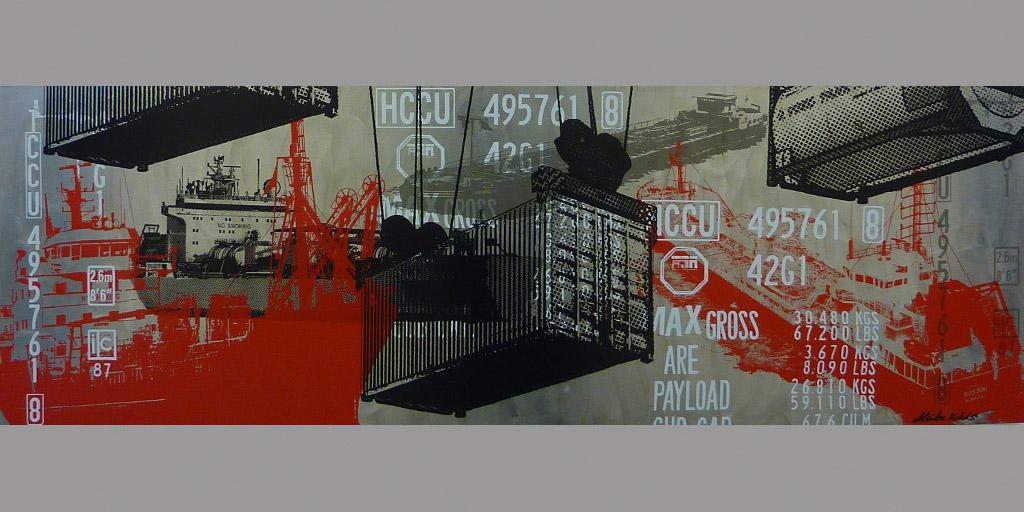 Gemälde von Meike Kohls zum Thema Seeschifffahrt